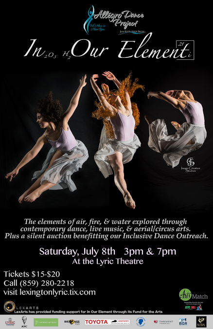 Allegro Dance Project Is Back With An Exciting New Show Exploring The Elements Of Air Earth Water And Fire Through Contemporary Original Live Music